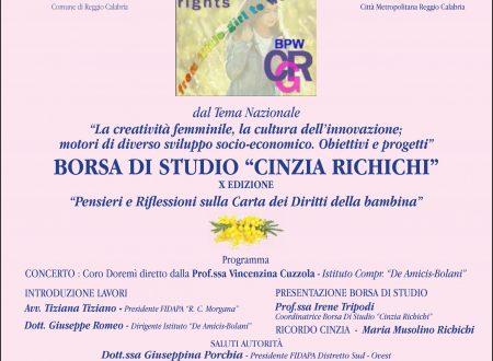 Borsa di studio Cinzia Richichi 2018